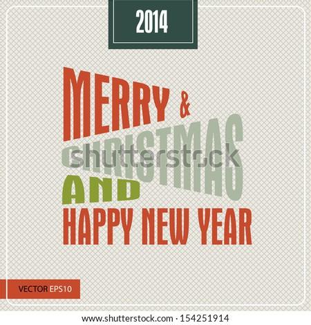 Vintage Poster Art - Merry Christmas - stock photo