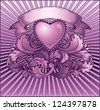 Vintage purple background. Raster version of vector file. - stock vector