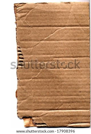 vintage ragged piece of cardboard - stock photo