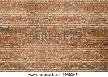 Vintage red brick old wall texture background - stock photo