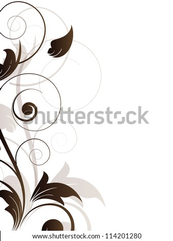 Vintage  retro background with floral elements - stock photo