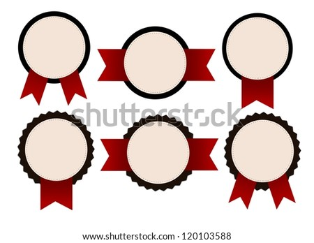 Vintage, retro isolated badges. - stock photo
