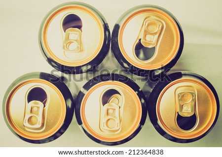 Vintage retro looking A tin can for beer alcoholic drink - stock photo