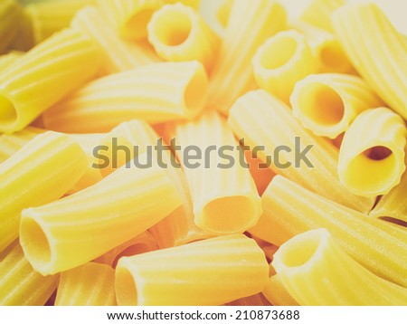 Vintage retro looking Detail of Macaroni pasta useful as a background