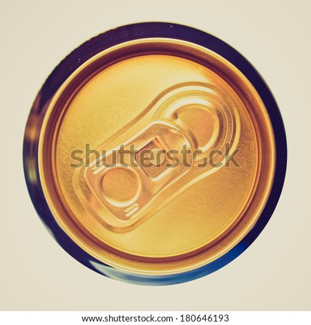 Vintage retro looking View of a picture of Beer can