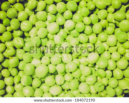 Vintage retro looking View of picture of Peas background picture