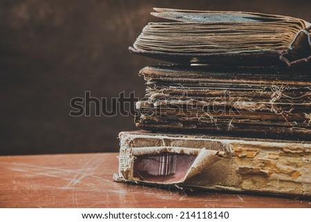 Vintage, retro, page, paper - stock photo