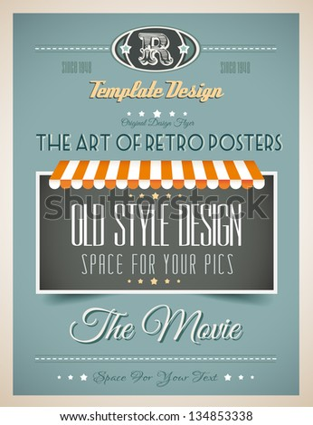 Vintage retro page template for a variety of purposes: website home page, old style flyers, book covers or vintage posters. - stock photo