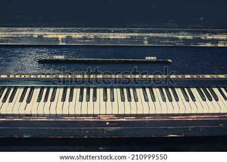 Vintage retro piano - stock photo