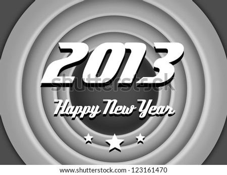 Vintage, retro wishes for new year 2013. - stock photo