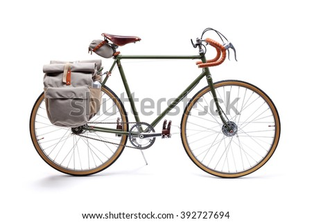 Vintage road bicycle - stock photo