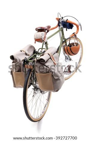 Vintage road bicycle - stock photo