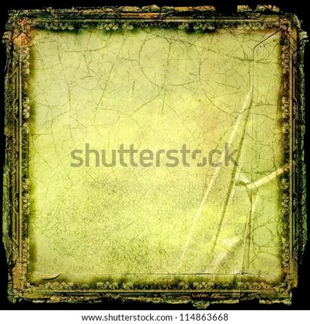 Vintage rococo frame - stock photo