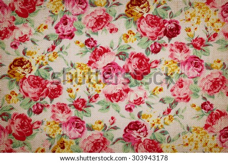 Vintage romantic rose fabric for grunge background