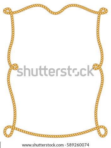 Vintage rope frame stock vector 580999114 shutterstock Rope photo frame