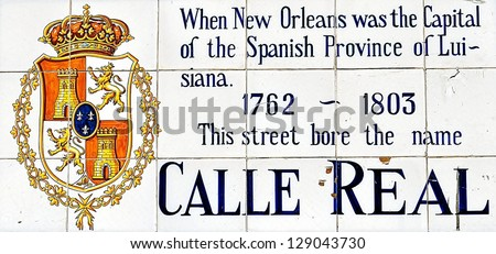Vintage Royal Street Sign In New Orleans French Quarter - stock photo