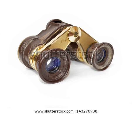 vintage russian binoculars - stock photo