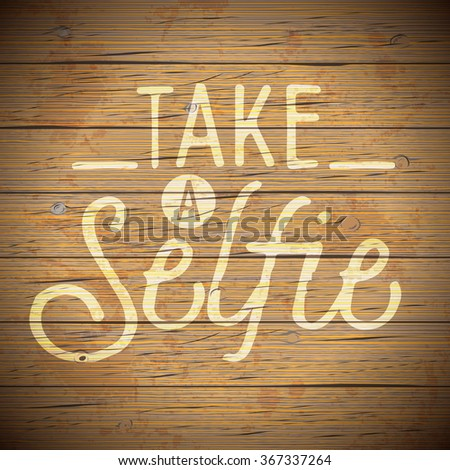 Vintage rustic wood background with slogan for social networking. - stock photo
