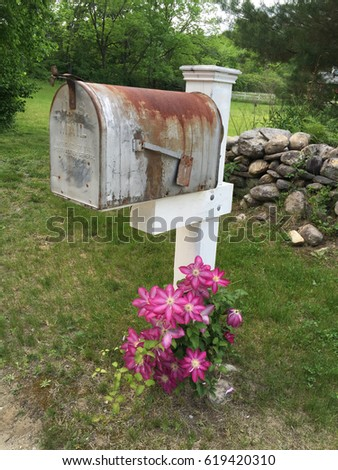 Mailbox Flowers Stock Images Royalty Free Images