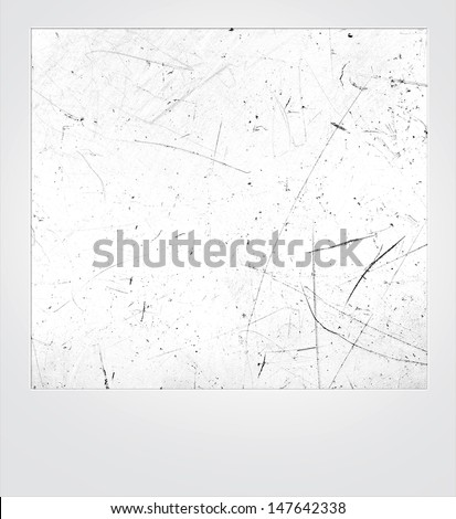 Vintage scratched photo frame - stock photo