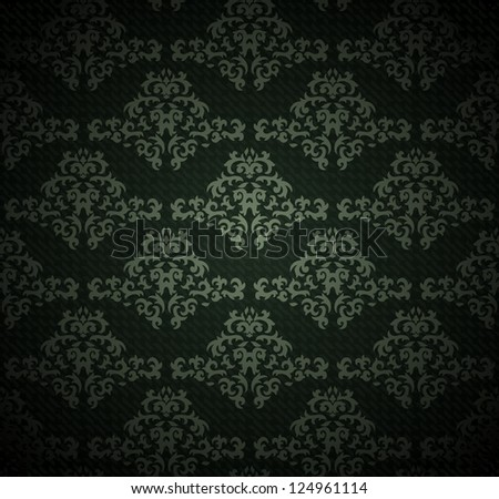 vintage seamless pattern on gradient background