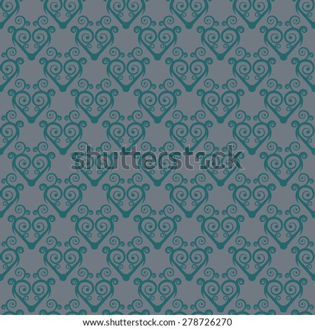 Vintage seamless pattern with swirls in ethnic style. Chinese traditional ornament. Rasterized version. - stock photo
