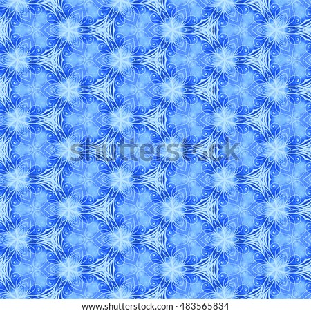Vintage seamless wall-paper with the abstract vegetable drawing, blue. Beautiful retro background. It is applied to design, scrapbooking