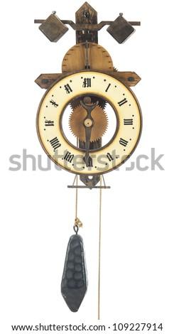 vintage single arm hand made Clock - stock photo