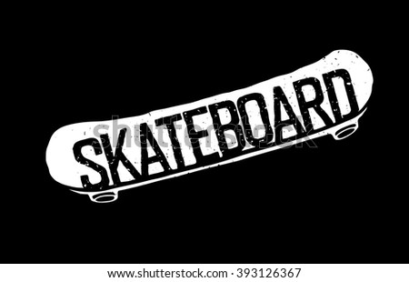 Vintage Skateboard Logotype. Can be used to print on T-shirts. Raster version.