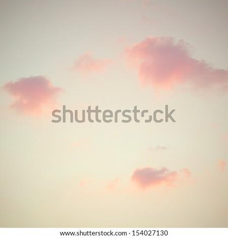 Vintage sky texture pastel - stock photo