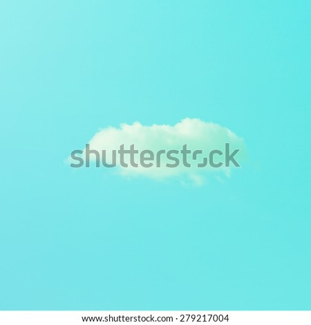 Vintage sky.vintage color filter effect. - stock photo
