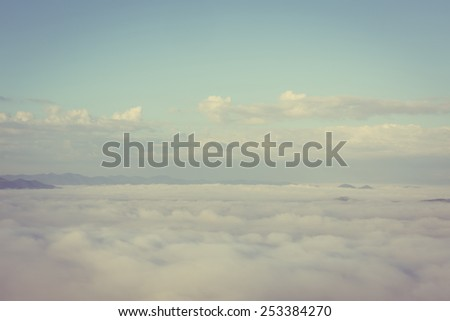 Vintage Sky (Vintage effect) - stock photo