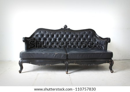 vintage sofa in the room - stock photo