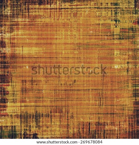 Vintage spotted textured background. With different color patterns: yellow (beige); brown; gray - stock photo