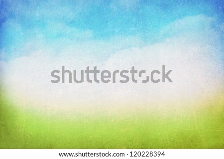 vintage spring/summer background - stock photo