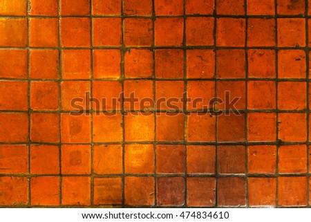 vintage square pattern terracotta tiles texture background