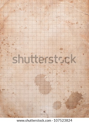 vintage squared paper - stock photo
