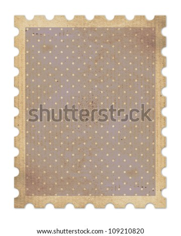 vintage stamp with clipping path - stock photo