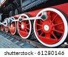Vintage steam locomotive - stock photo