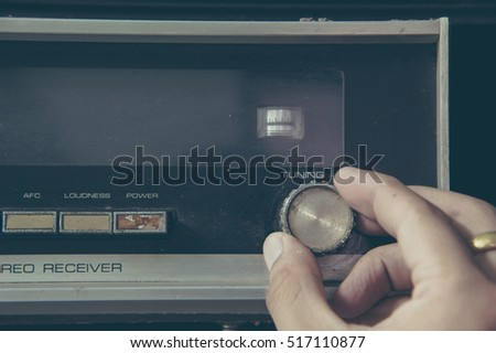 Vintage stereo and control button