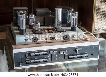 Vintage Stereo Hifi system - stock photo