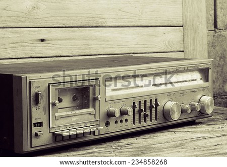 Vintage,Still Life old radio