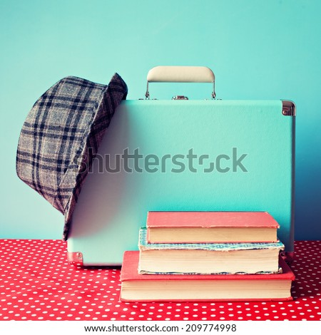 Vintage still life with books  - stock photo
