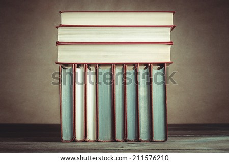 Vintage Still Life With Old Books  - stock photo