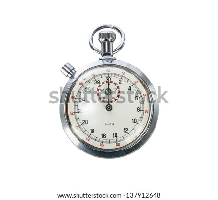 Vintage Stopwatch on white background - stock photo