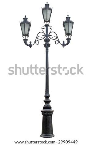 Vintage street lamp - stock photo