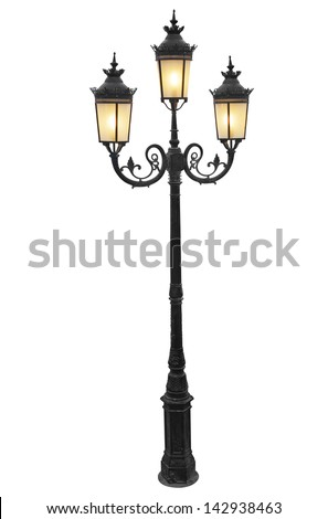 Lamp post isolated stock images royalty free images vectors vintage street lampot mozeypictures Images