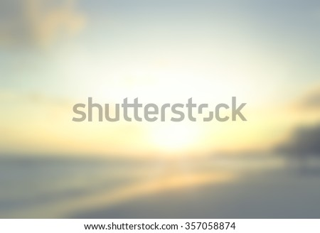 Vintage style. Abstract blurred beautiful sky beach texture background: yellow green blue turquoise patterns. Sandy water bright sun light. Summer holiday concept. - stock photo
