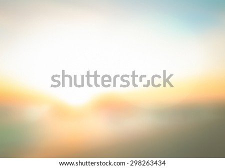 Vintage style. Abstract blurred textured background: yellow and orange patterns. Blurred nature background. Sandy beach backdrop with turquoise water and bright sun light. Summer holidays concept. - stock photo