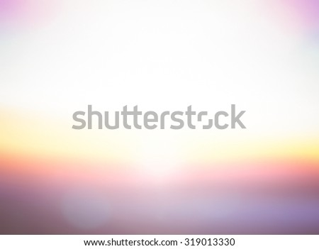 Vintage style. Abstract blurred textured background: yellow orange purple patterns. Blurred nature background. Sandy beach backdrop with turquoise water and bright sun light. Summer holidays concept. - stock photo
